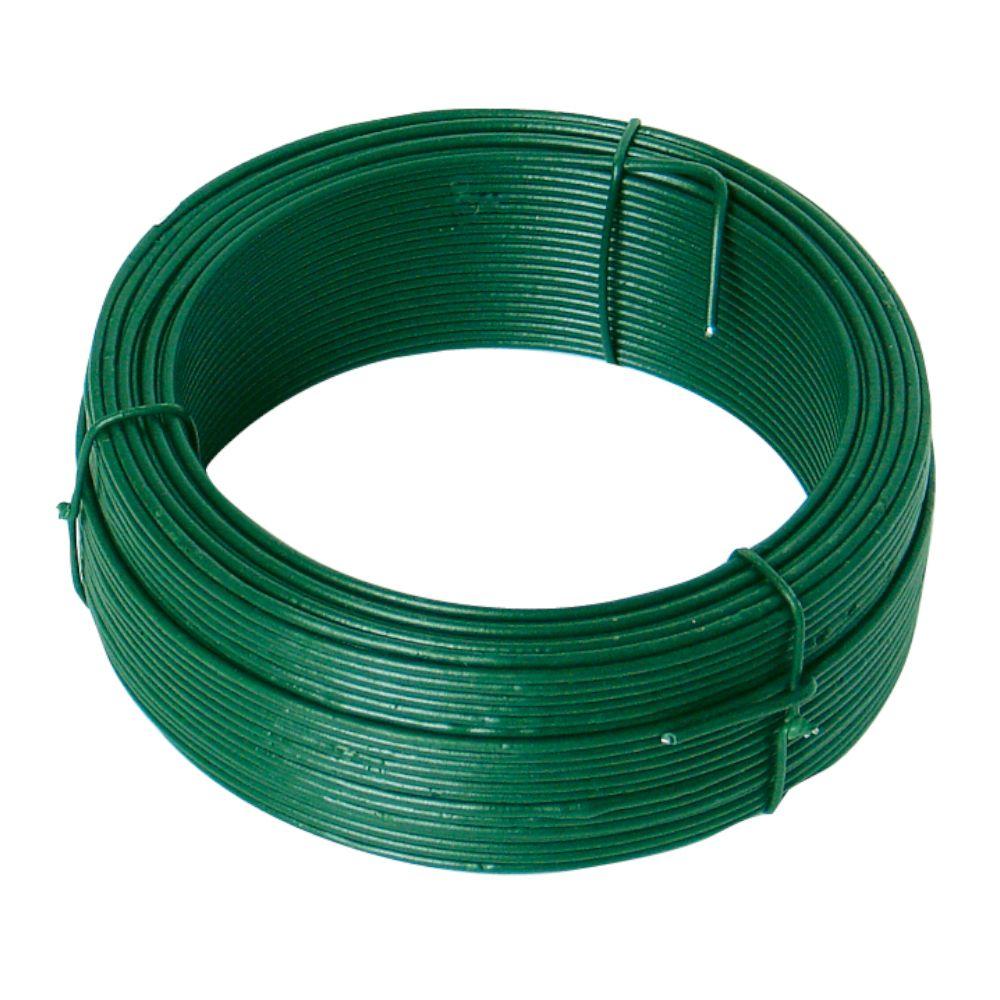 Drát ocelový, pr. 2,0mm, 50m, PZ + PVC zelené