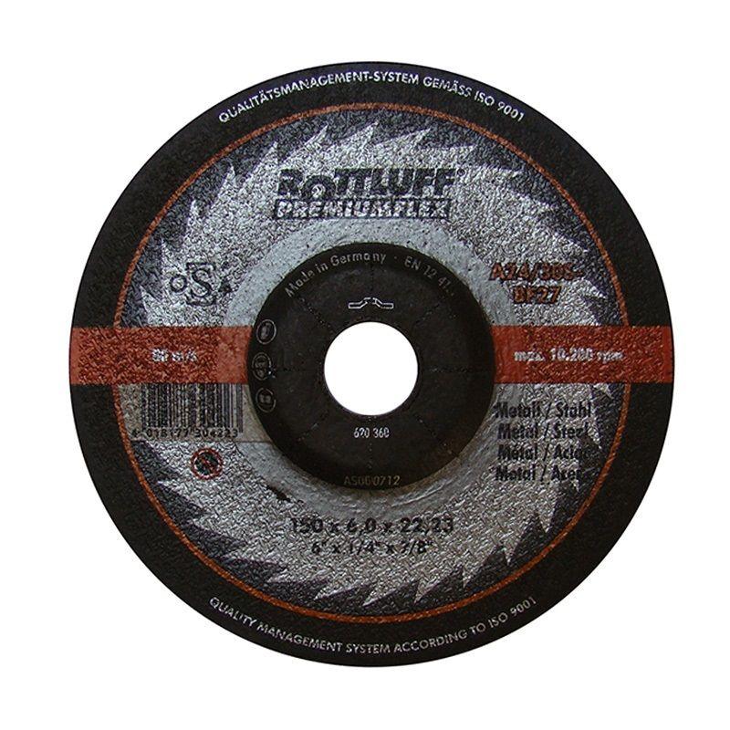Kotouč brusný na kov, 125 x 6mm, 22,2mm, A24/30S-BF, ROTTLUFF