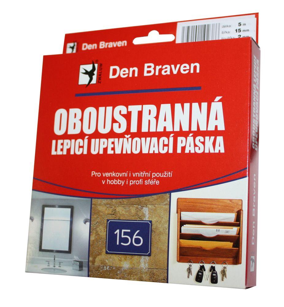 Lepicí páska oboustranná, 15mm x 5m, síla 1mm, DEN BRAVEN