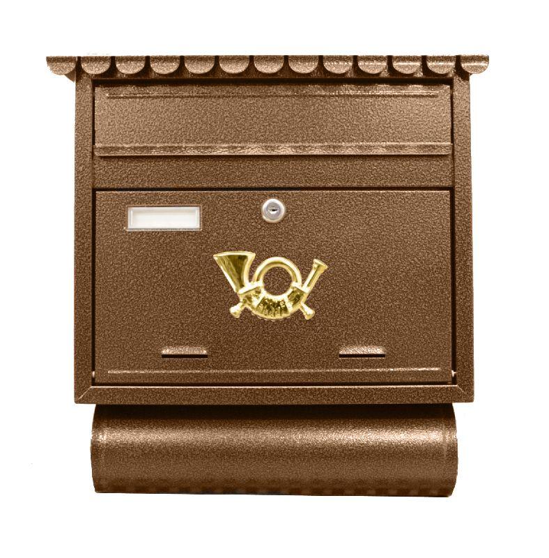 Poštovní schránka ST 104, 44 x 39cm, antická hnědá