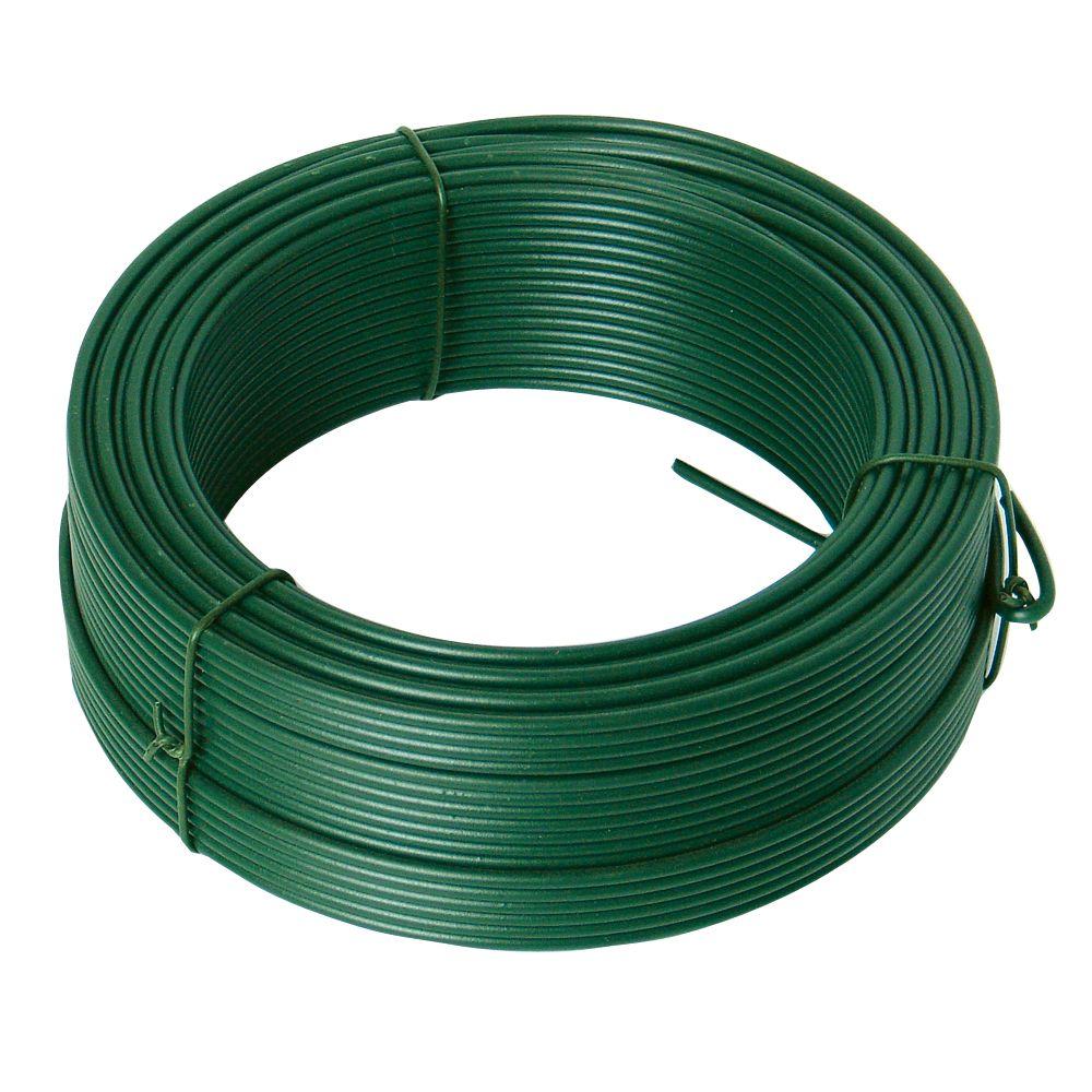 Drát ocelový, pr. 2,6mm, 26m, PZ + PVC zelené