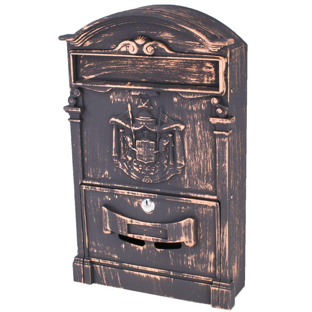 Poštovní schránka, ocel+ hliník, měď, 41 x 25,5cm, ANTIQUE, Magic Home