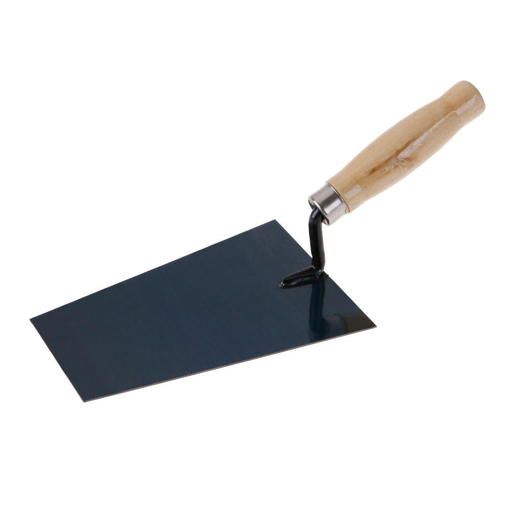Zednická lžíce 180mm, ocel, dřevěná rukojeť