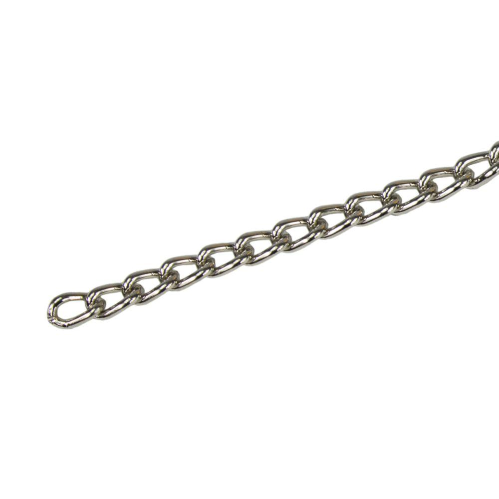 Řetěz kroucený, pr. 1,8mm, cívka 25m, poniklovaný