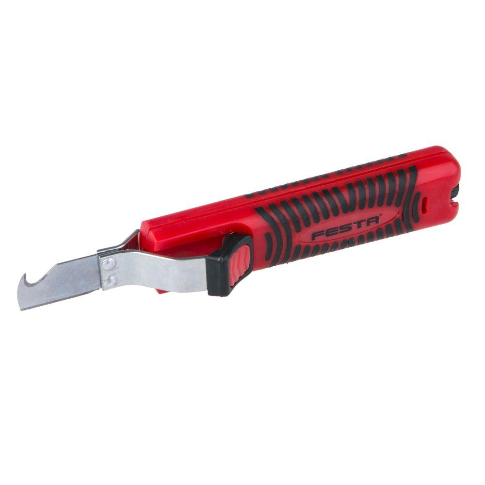Nůž elektrikářský odizolovávací, s háčkem, 17cm, FESTA