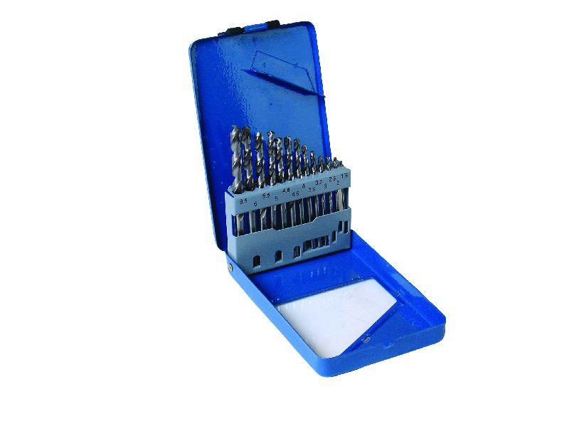 Vrtáky do kovu vybrušované, sada 13ks, pr. 1,5 - 6,5mm, HSS-G, MAGG