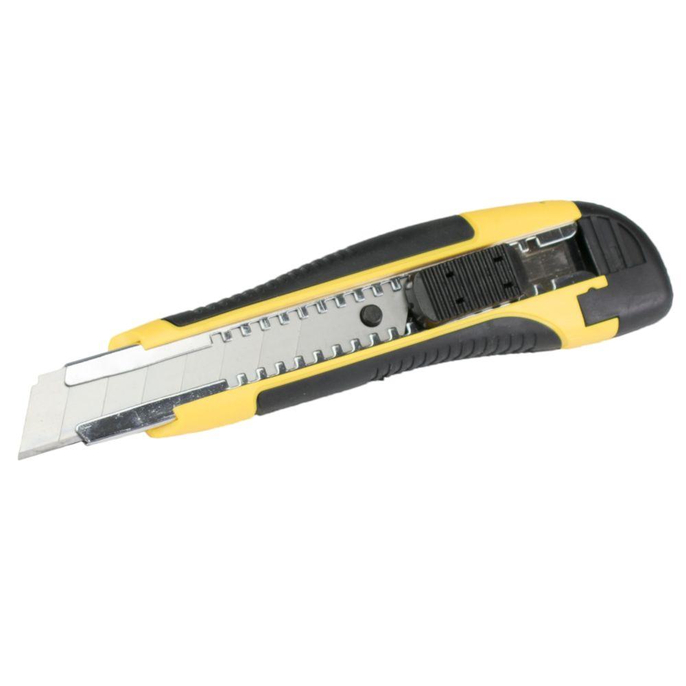 Nůž ulamovací - box (24ks), 18mm, plast+guma, kovová výztuha, brzda