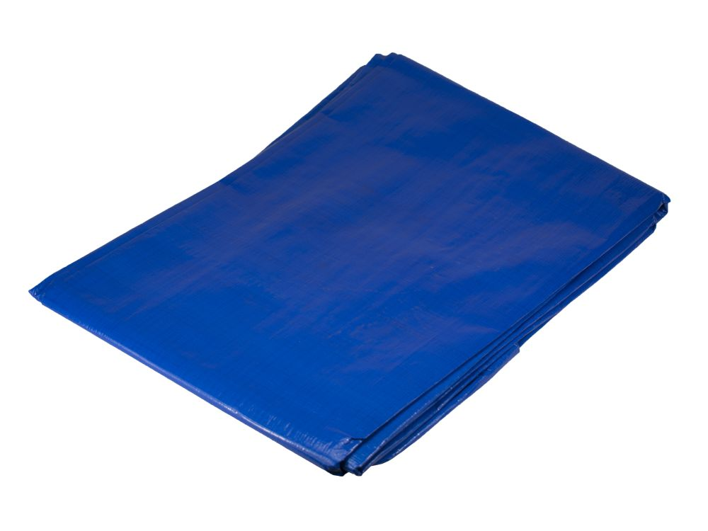 Plachta zakrývací PE s oky PROFI, rozměr 5 x 6m, 140g/m, modrá