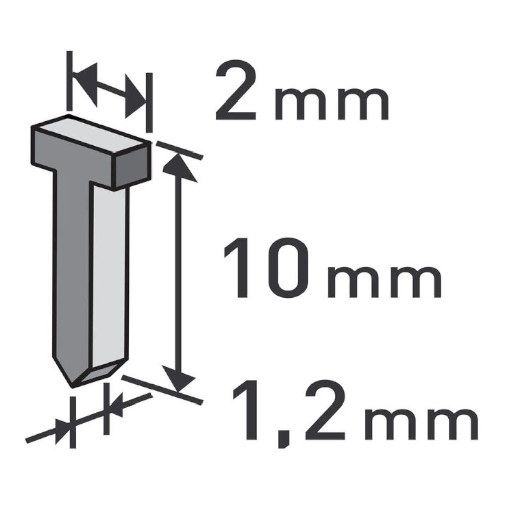 Hřebíky 0,52 x 1,2mm, délka 10mm, balení 1000ks, EXTOL PREMIUM