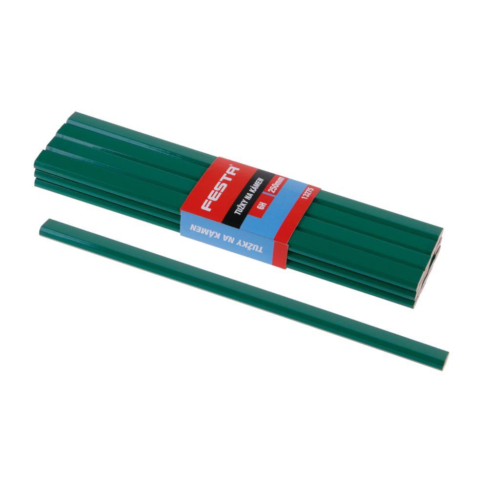 Tužka na kámen 6H, 250mm, zelený lak, FESTA