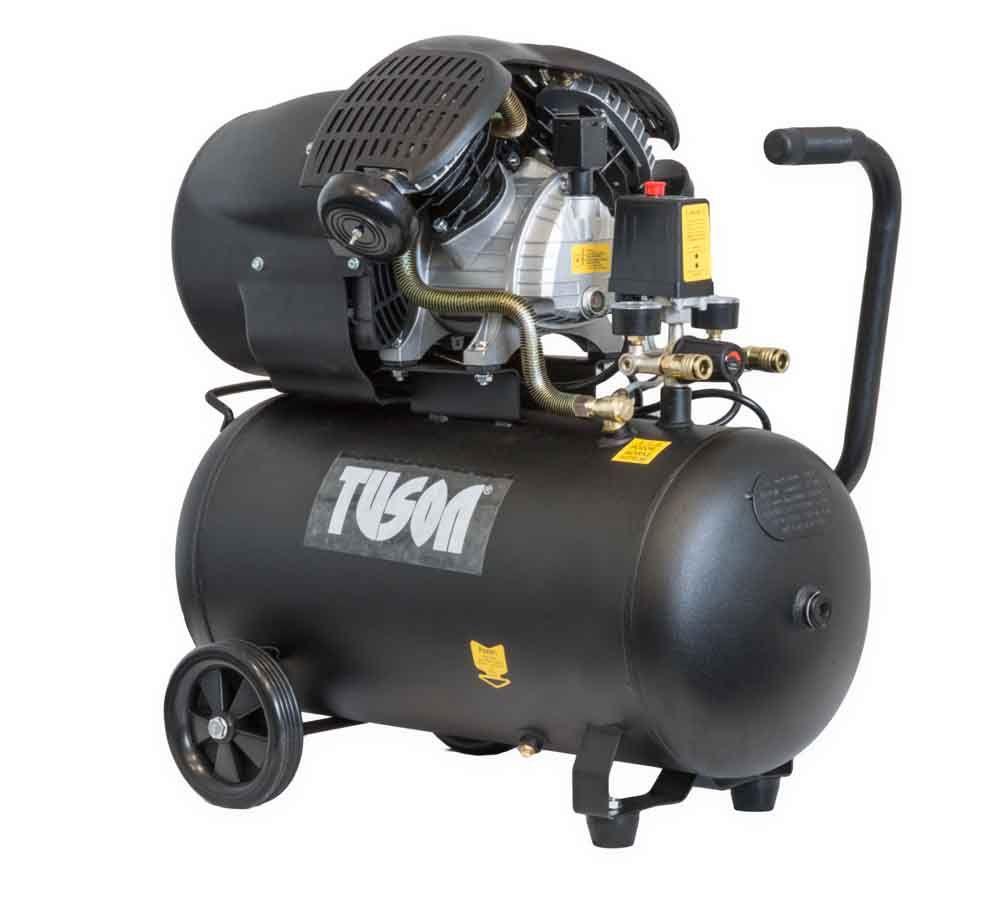 Kompresor olejový, 2200W, 2 písty, nádoba 50l, TUSON