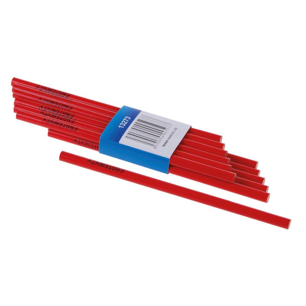 Tužka na sklo - červená tuha, 175mm, červený lak, FESTA
