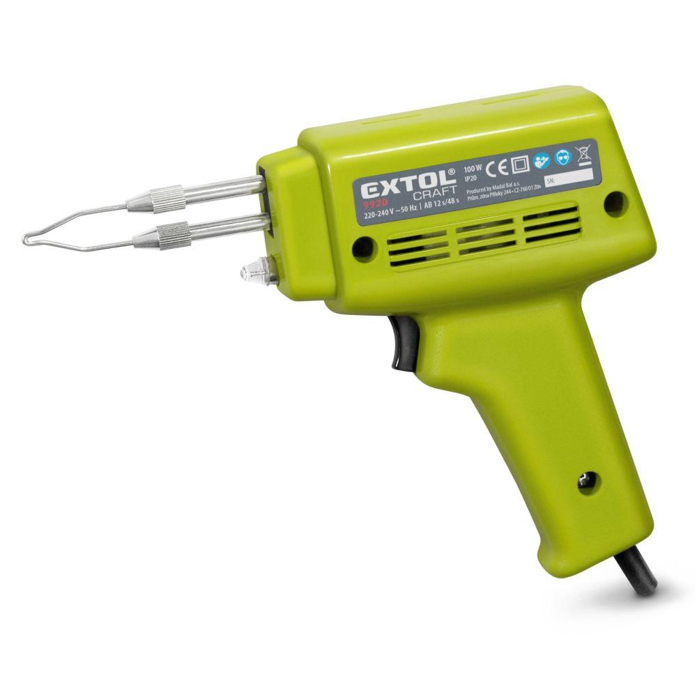 Pájka pistolová, 100W, transformátor, EXTOL CRAFT