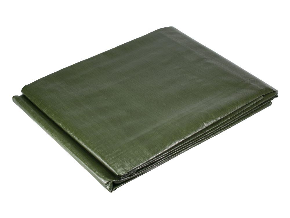 Plachta zakrývací PE s oky PROFI, rozměr 10 x 15m, 200g/m, zelená
