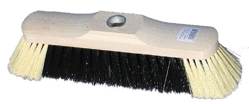 Smeták dřevěný lakovaný 5141/531/Z, se závitem, délka 28,5cm, vlákno směs, bez násady