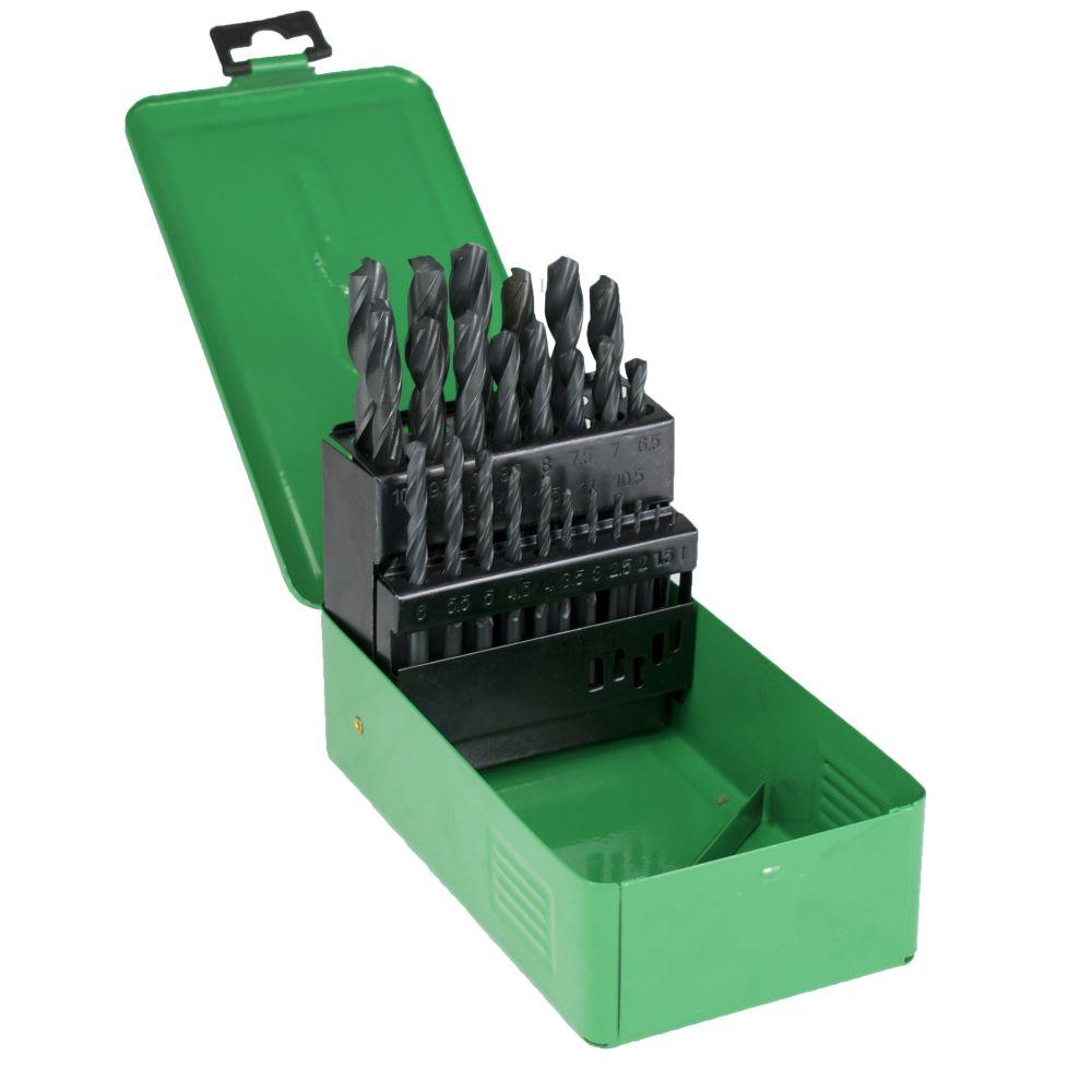 Vrtáky do kovu, sada 25ks, pr. 1 - 13mm, HSS, v plechovém boxu