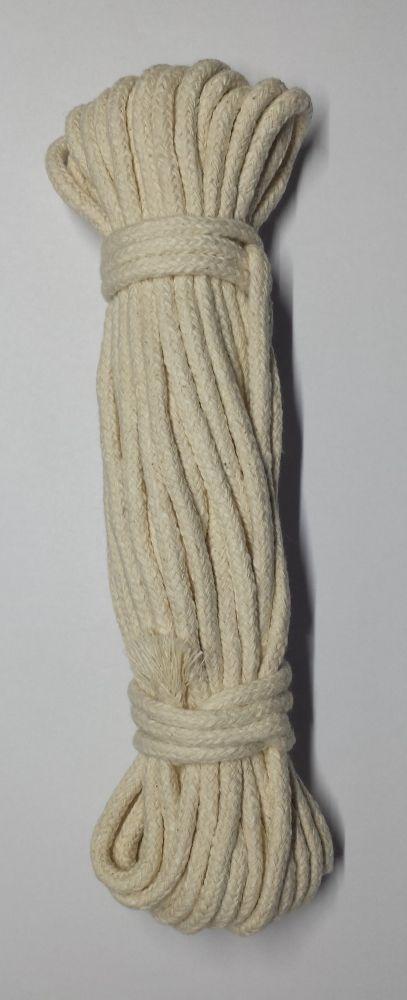 Prádlová šňůra pletená 15m, bavlna