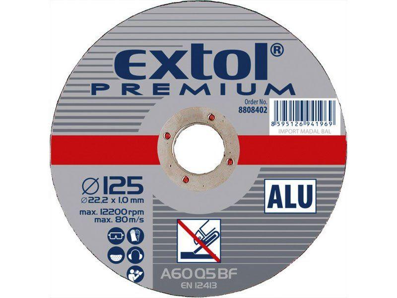 Kotouč řezný na hliník, 115 x 1,0mm, 22,2mm, EXTOL PREMIUM