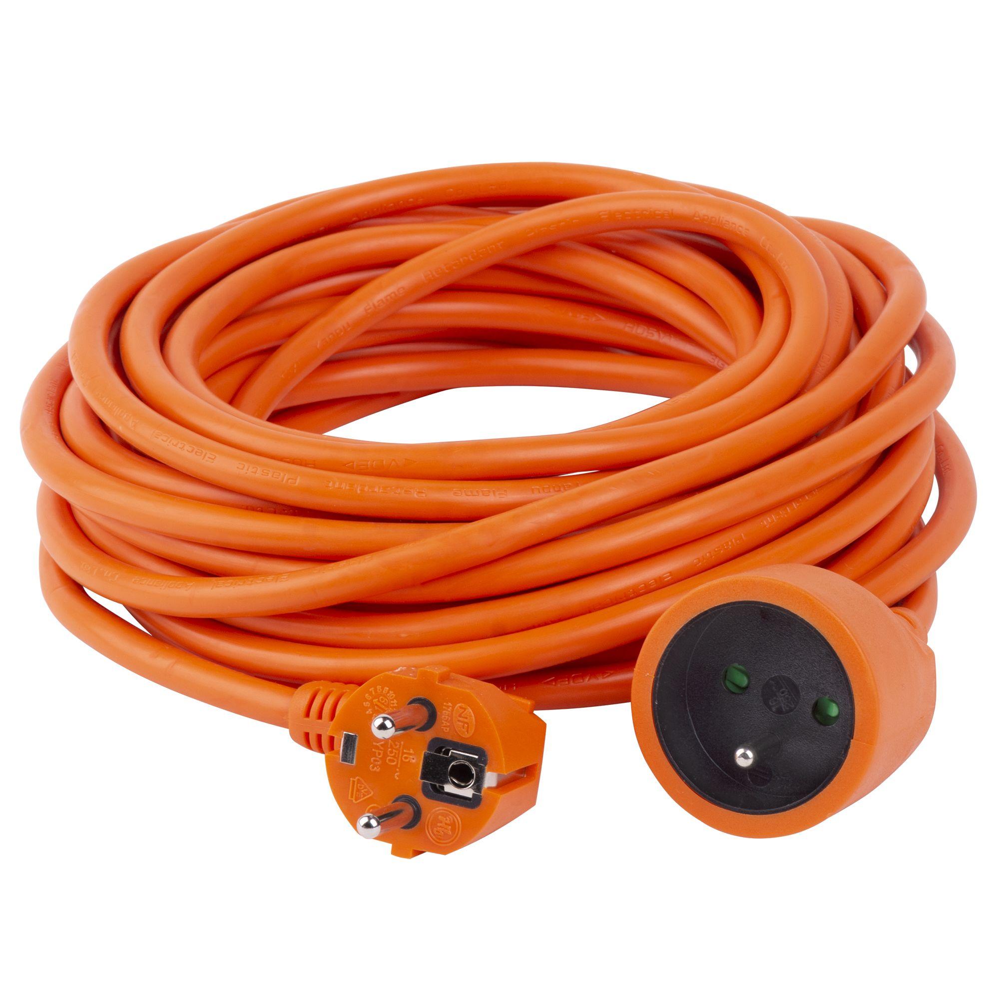 Prodlužovací kabel, délka 30m, 1 zás., 3x1,5mm, oranž., STREND PRO