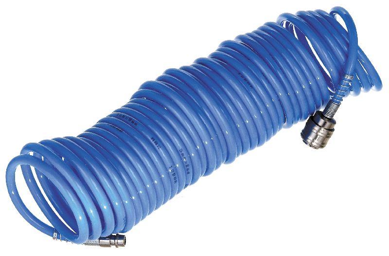Vzduchová hadice spirálová, PU, koncovky, pr. 6mm, délka 7,5m, MAGG