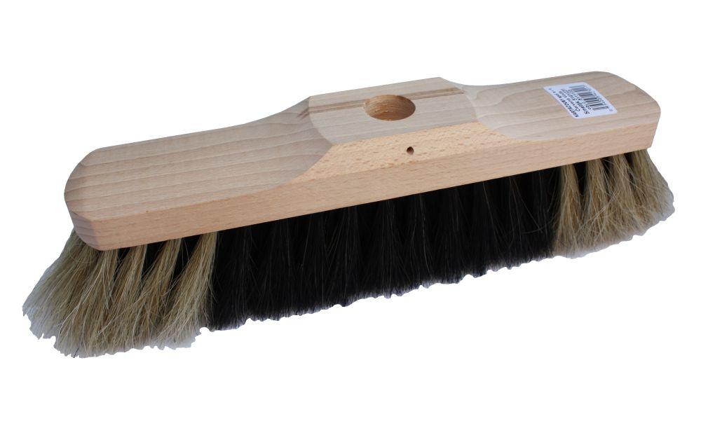 Smeták dřevěný nelakovaný 5141/231, zatloukací, délka 28,5cm, vlákno žíně, bez násady