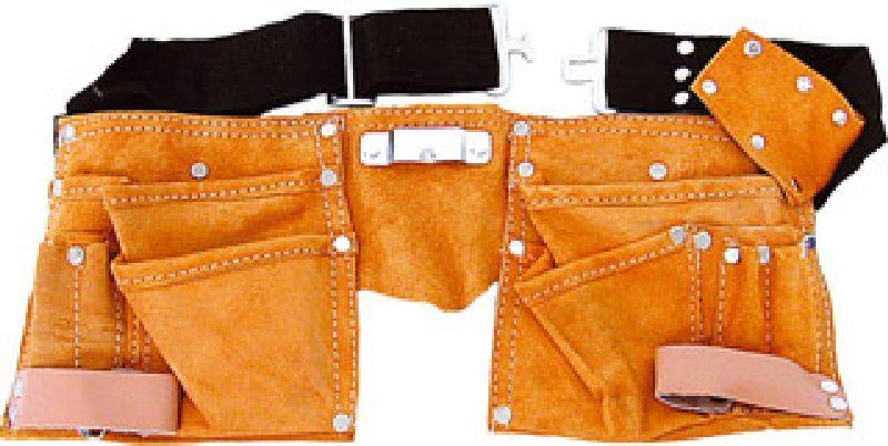 Kapsa na nářadí kožená, s opaskem, 11 kapes