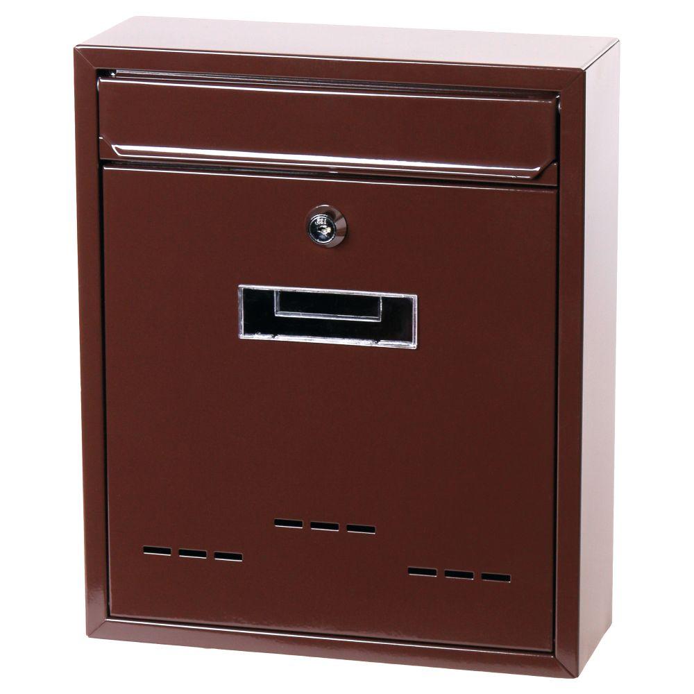 Poštovní schránka, ocel, hnědá, 31 x 26cm, RADIM M., STREND PRO