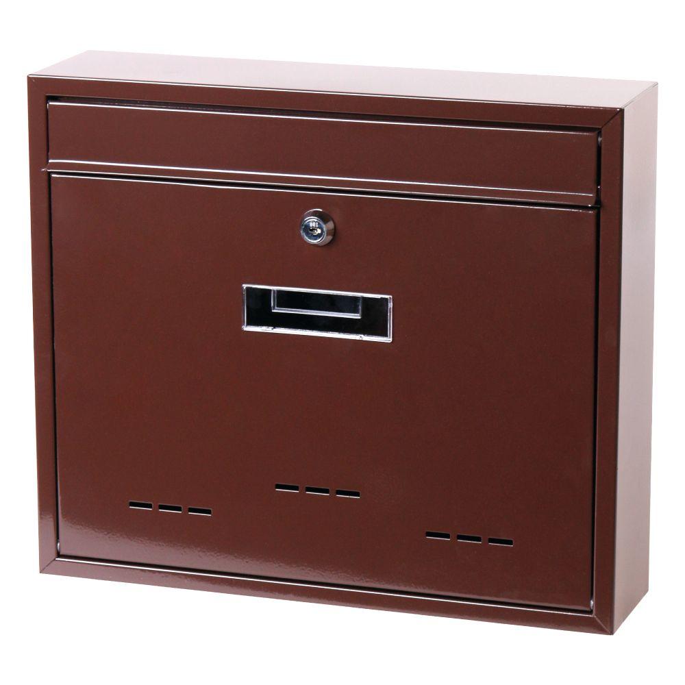 Poštovní schránka, ocel, hnědá, 31 x 36cm, RADIM V., SATOS