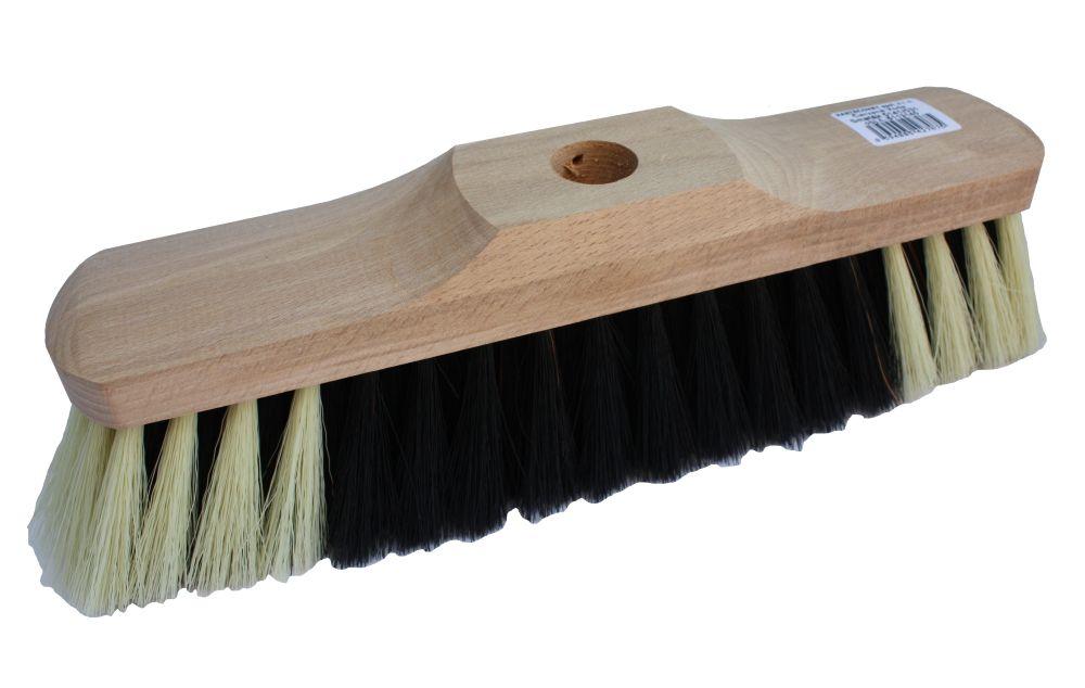 Smeták dřevěný nelakovaný 5141/531, zatloukací, délka 28,5cm, vlákno směs, bez násady