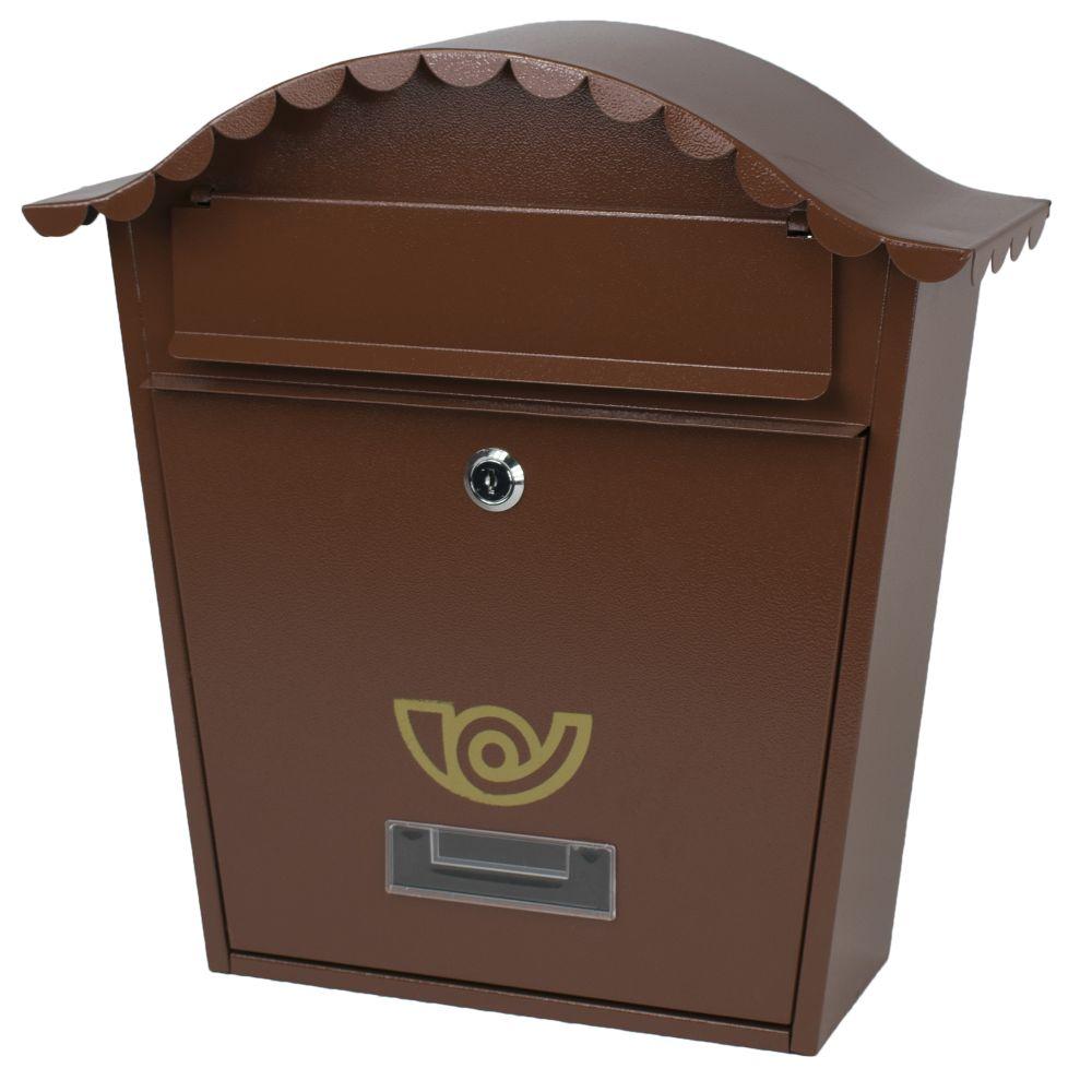 Poštovní schránka, ocel, hnědá, 36,5 x 36,5cm, NAPOLEON, Magic Home