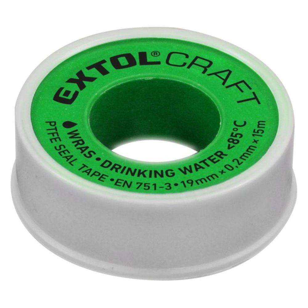 Páska těsnící teflonová, 19mm x 15m, 0,2mm, WRAS, EXTOL CRAFT
