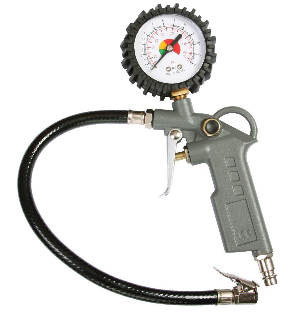 Plnič pneumatik s manometrem, 8bar, MAGG