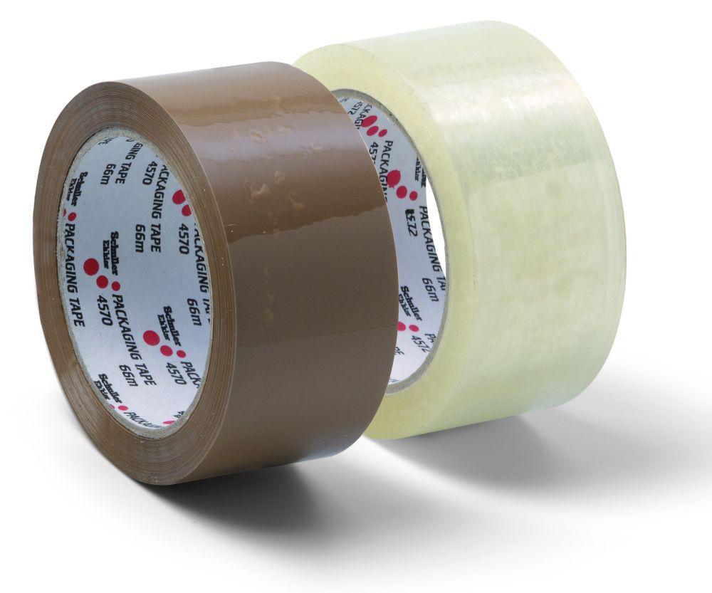 Lepící páska balící nehlučná, 48mm x 66m, PP, čirá