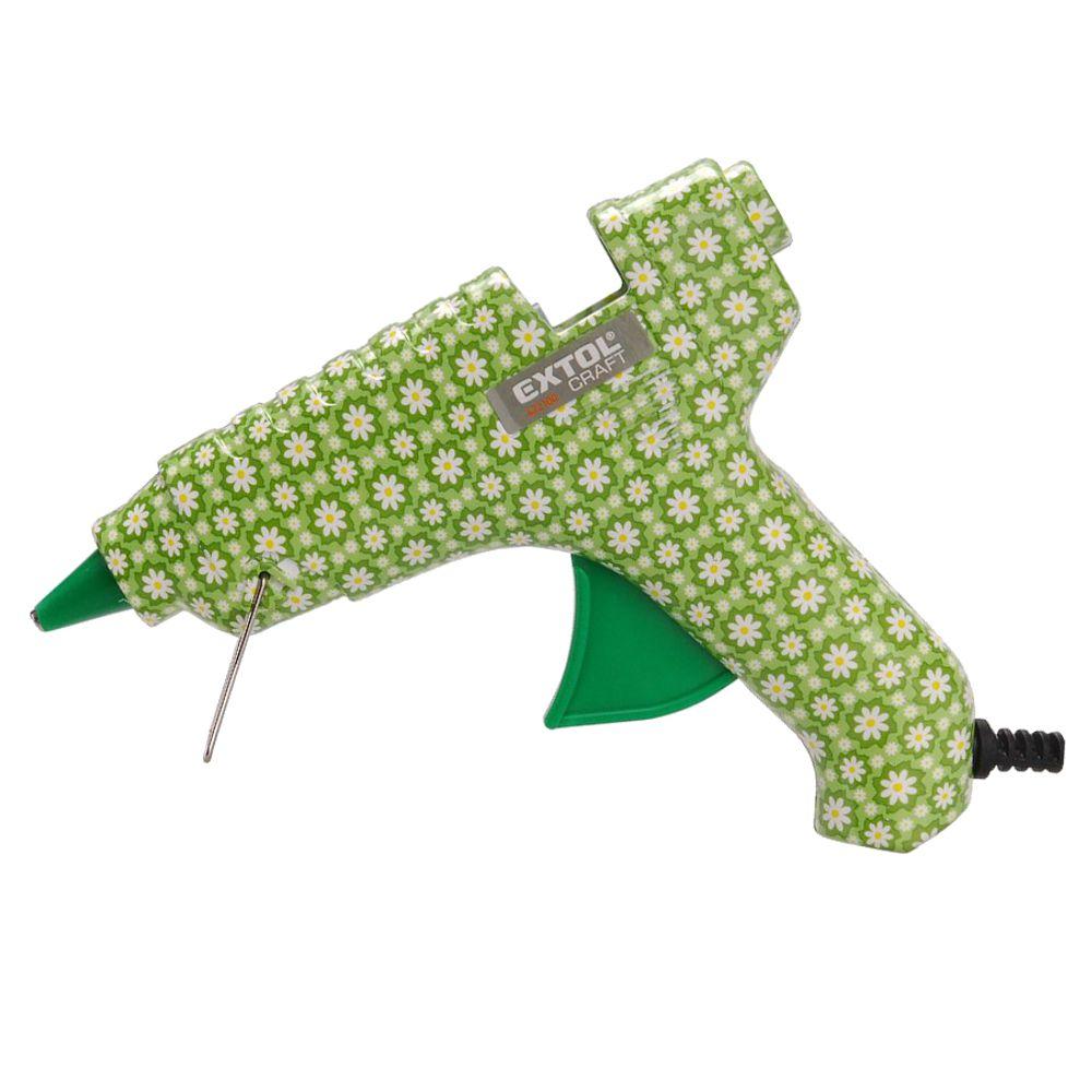 Tavná lepící pistole, pr. 11mm, 40W, květinový vzor, EXTOL CRAFT