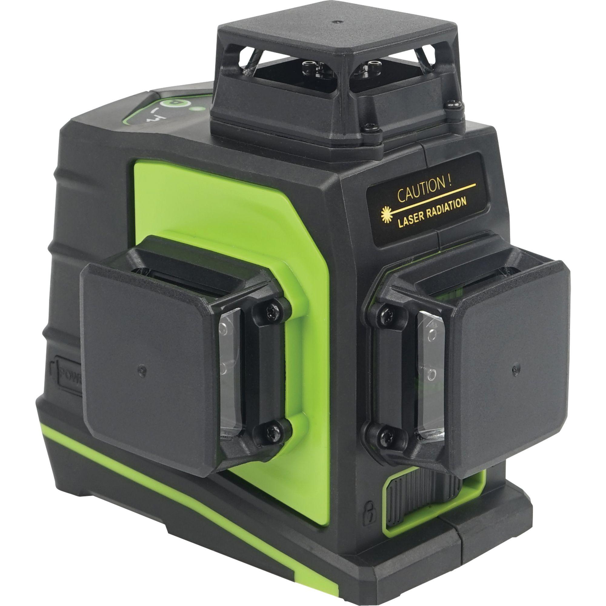 Laser liniový 360°, křížový samonivelační, zelený, 3D, GF360G, STREND PRO