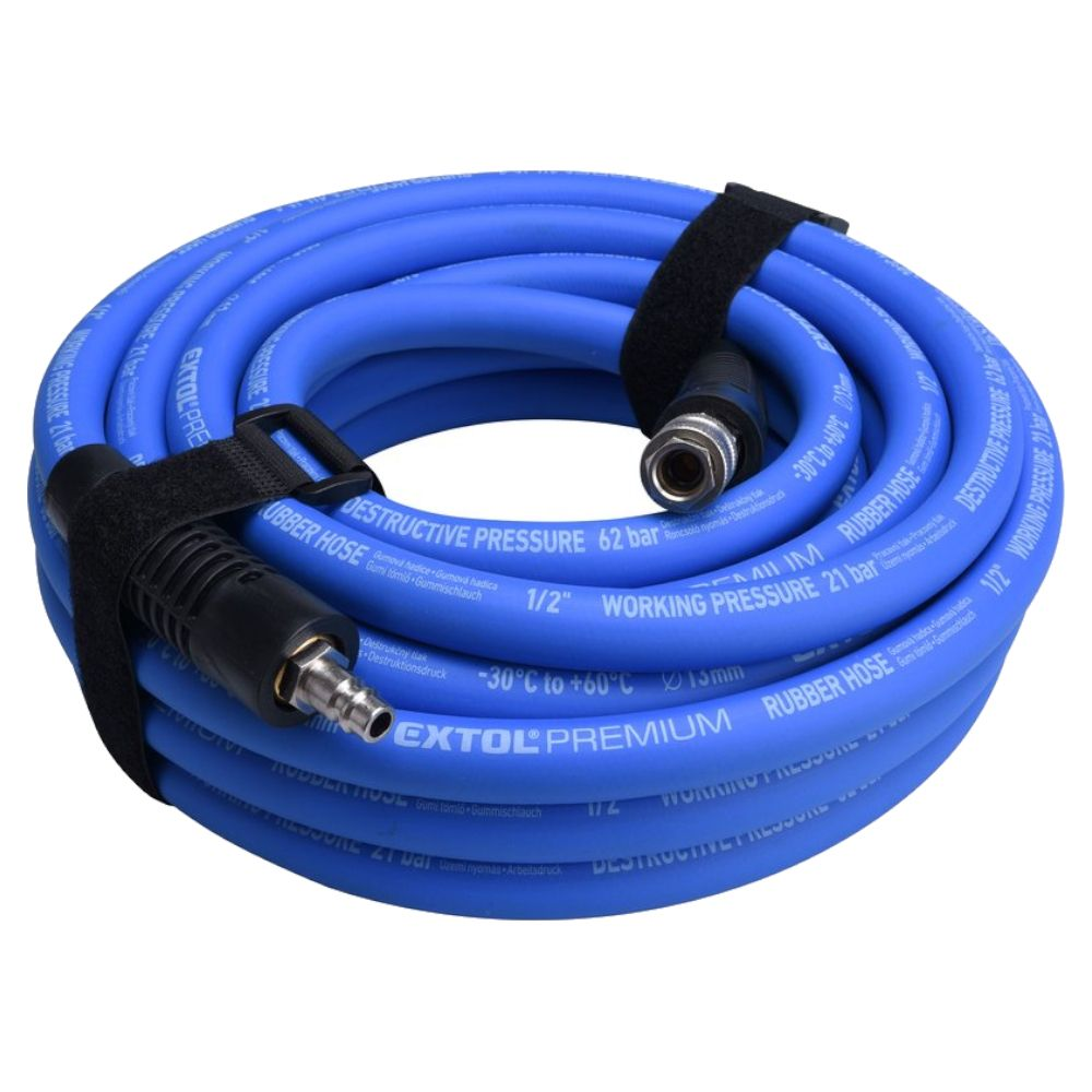 Vzduchová hadice, gumová, koncovky, pr. 6mm, délka 10m, EXTOL PREMIUM