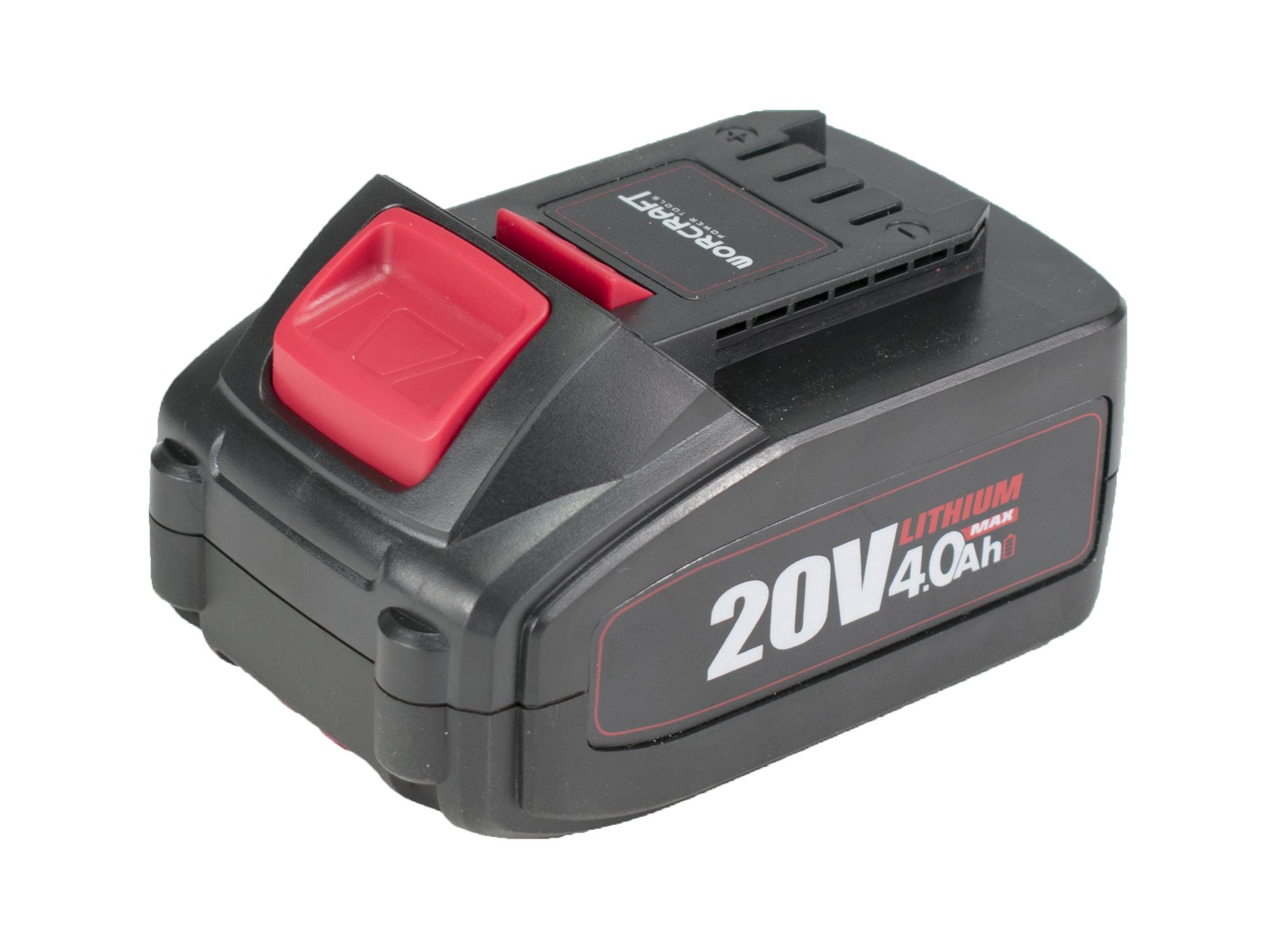 Baterie akumulátorová 20V Li-ion, 4000mAh, S20Li, WORCRAFT