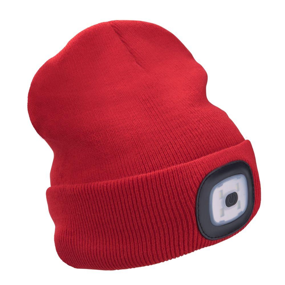 Čepice s LED čelovkou, 4x45lm, USB nabíjecí, UNI, červená, EXTOL LIGHT
