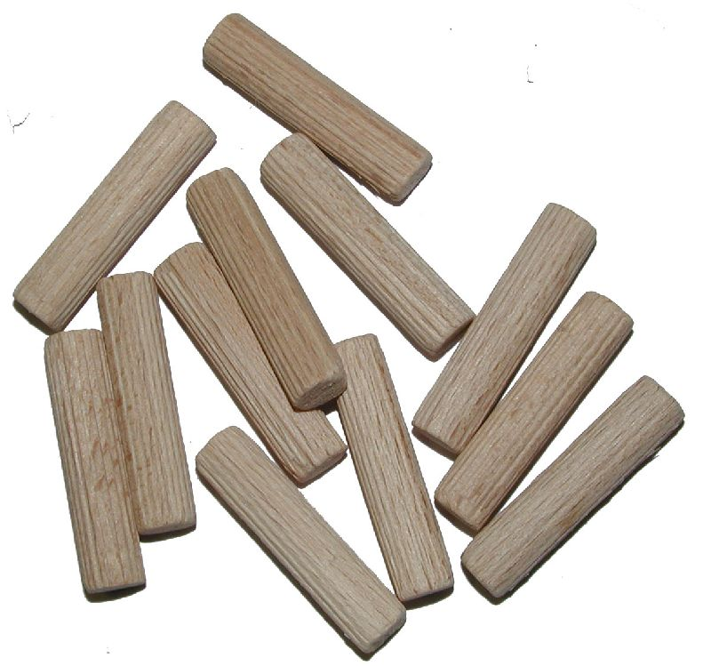 Dřevěná hmoždinka krácená, vroubek, pr. 6mm, délka 35mm, balení 50ks