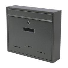 Poštovní schránka, ocel, šedá struk., 31 x 36cm, RADIM V., SATOS