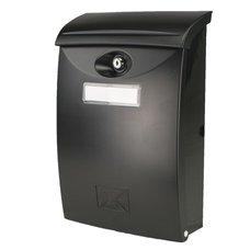 Schránka poštovní, plast, černá, 34,5 x 24cm, ABS, SATOS