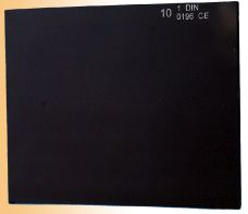 Sklo do svařovací kukly, 110 x 90mm, tmavé č. 8