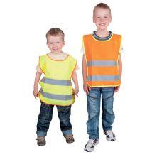 Reflexní vesta dětská, velikost S, žlutá