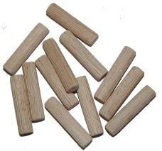 Dřevěná hmoždinka krácená, vroubek, pr.  8mm, délka 35mm, balení 50ks