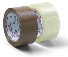 Lepící páska balící nehlučná, 48mm x 66m, PP, hnědá
