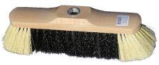 Smeták dřevěný lakovaný 5141/533/Z, se závitem, délka 28,5cm, vlákno směs, bez násady