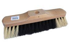 Smeták dřevěný lakovaný 5141/533, zatloukací, délka 28,5cm, vlákno směs, bez násady