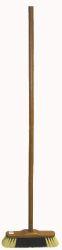 Smeták s násadou dřevěný mořený 5141/537, délka 28,5cm, vlákno směs