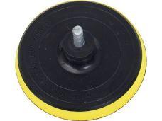 Kotouč gumový s měkkou pěnou do vrtačky, průměr 125mm, trn 8mm, suchý zip, EXTOL CRAFT