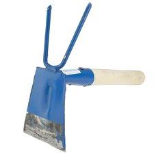 Motyčka okopávací kovaná se 2 hroty, s dřevěnou násadou